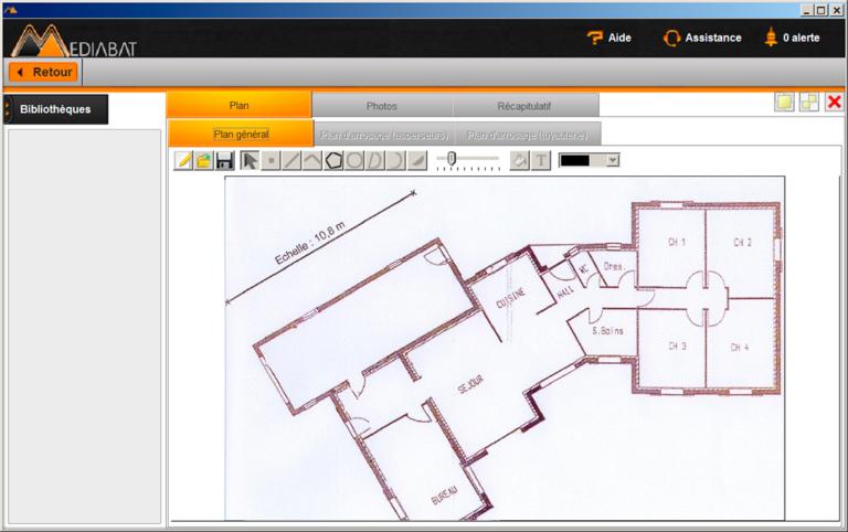 scanplan, logiciel de calcul de métrés