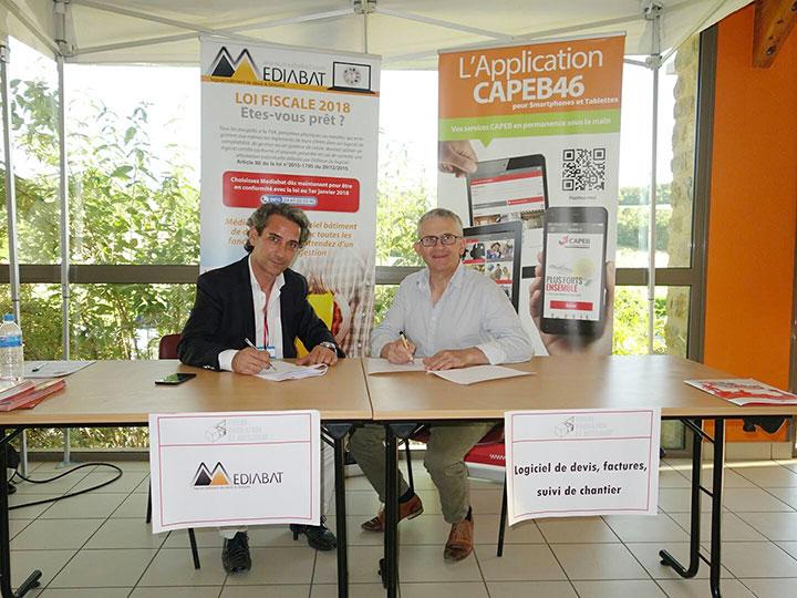 Signature partenariat CAPEB 46