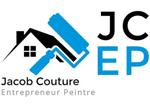 exemple de logo d'entreprise de peinture dans le batiment