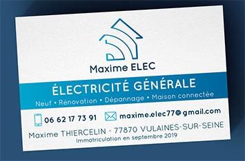 carte de visite électricité