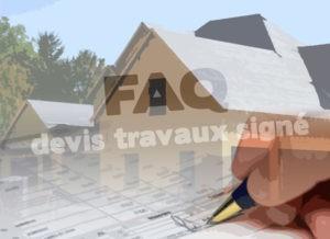 FAQ Devis signé chantier batiment