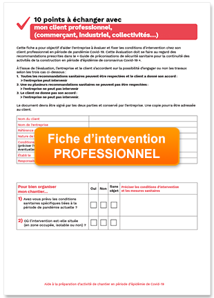 fiche intervention professionnel
