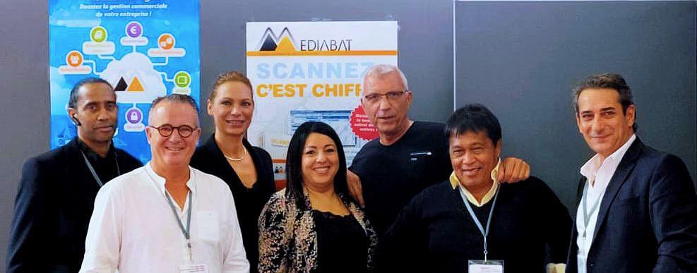 Equipe Mediabat à Batimat 2019
