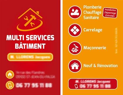 Modele de carte de visite d'entreprise multiservices