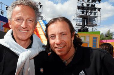 Philippe Candeloro et Nelson Monfort